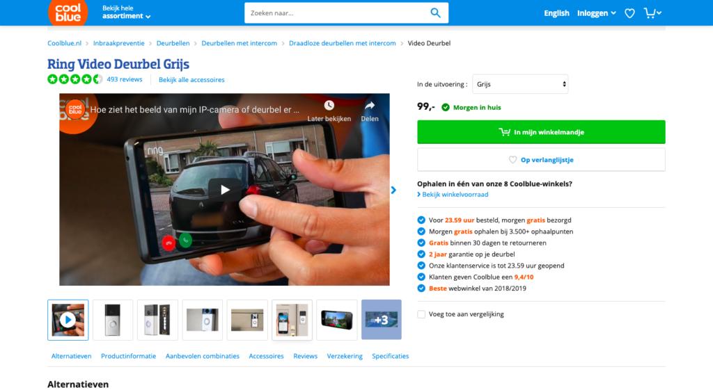 Conversie-optimalisatie-voorbeeld-Productvideo-Coolblue