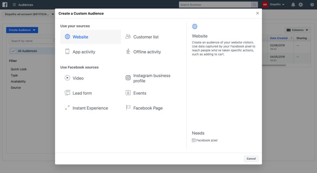Facebook-Ads-Manager-Remarketing