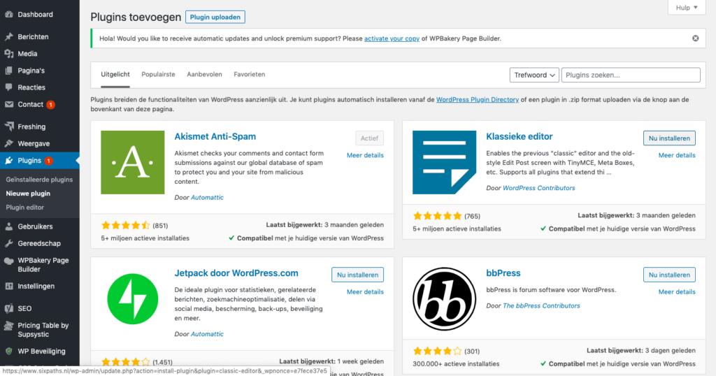 Wordpress-Blog-Beginnen-Plugin-Toevoegen