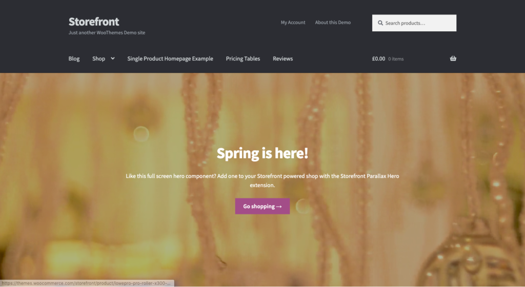 Wordpress-thema's-Storefront