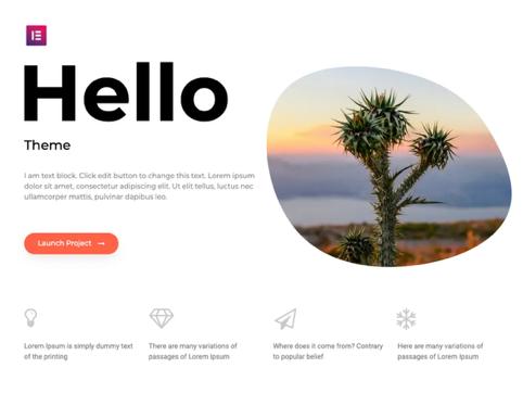 Wordpress-thema's-Hello-elementor